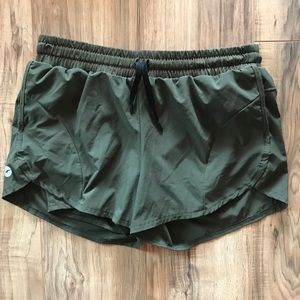 Army Green Athletic Shorts